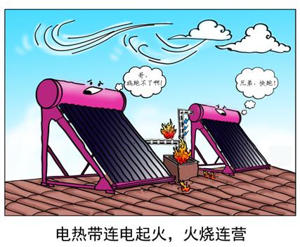 太阳能电伴热带起火-----火烧连营